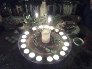 A Winter Solstice wheel of light 21 December 2013